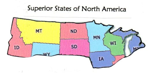 Superior States of North America