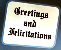 greetings and felicitations