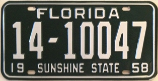 Florida-1958-license-plate