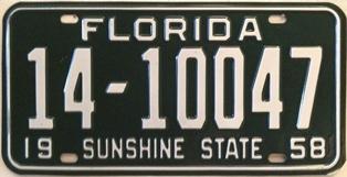 Florida-1958-license-plate