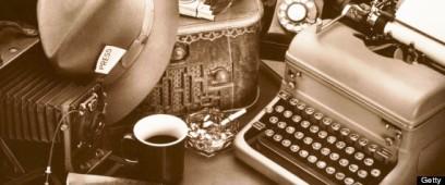 Getty STILL LIFE / REPORTER'S DESK WITH TYPEWRITER & BOX CAMERA