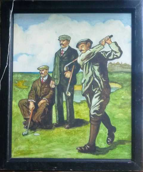 Scottish Golfing sign