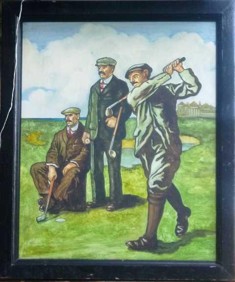 Scottish Golfing sign