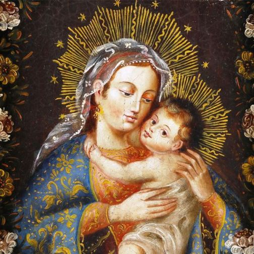 Virgin Mary and baby Jesus