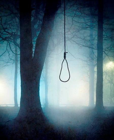 Hanging from a Tree in Fog- by Lee-Avison
