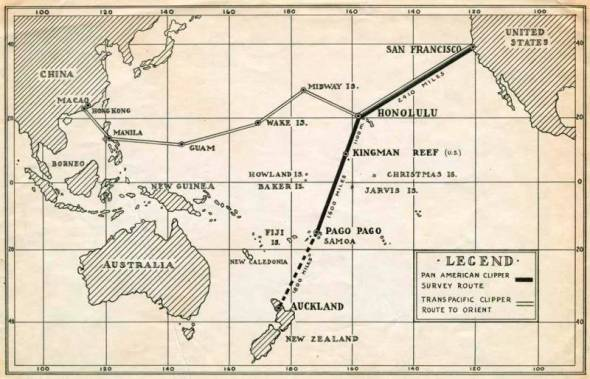 Pacific Clipper Route