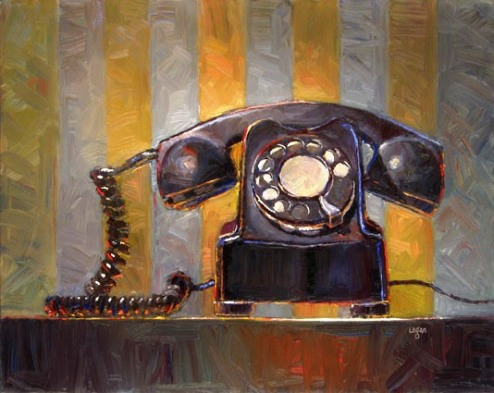 Old Telephone by Raymond Logan