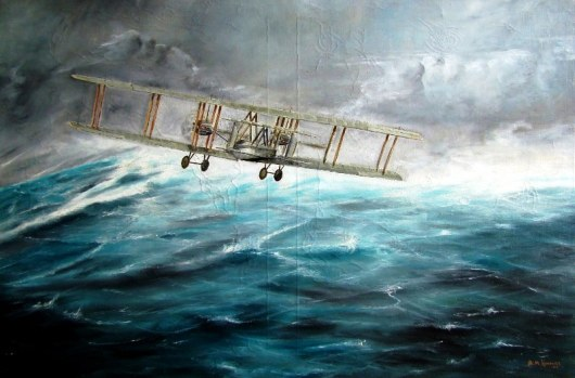 aviation_artist-alan_hindle_painting_vickers_vimy_alcock_brown_point_of_no_return-01