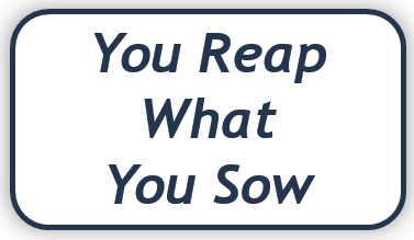 We reap what we sow essay writing